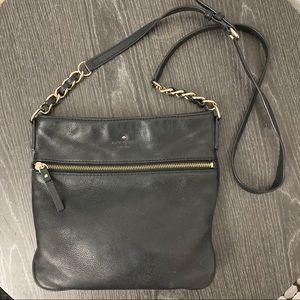 Kate Spade New York Black Leather Crossbody Bag